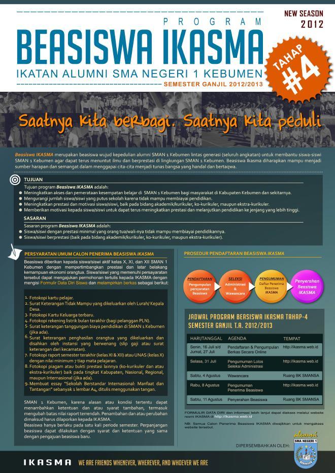 Beasiswa Ikasma 2012/2013
